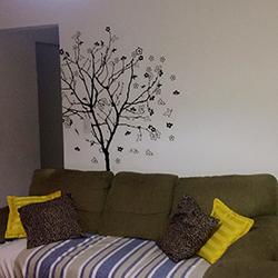 Adesivo decorativo de parede com recorte - Árvore