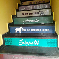 Adesivo decorativo para escada