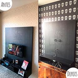 Adesivo decorativo de parede em São Paulo - Antes e Depois