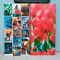 Adesivo decorativo para porta com impressão digital