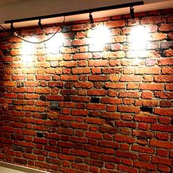 Decoração - Revestimento de parede com tijolinho - Revestimento de parede