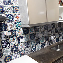 Adesivo de parede para azulejo - Decoração de Cozinha - Azulejo Português - São Paulo