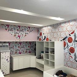 Envelopamento parede revestimento adesivo quarto infantil decoração - São Paulo