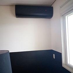Envelopamento de ar condicionado com preto fosco