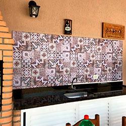 Adesivo para azulejo - Decoração de Churrasqueira - São Paulo