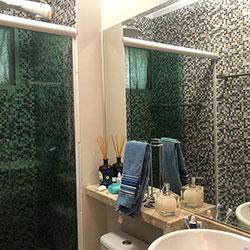 Adesivo de parede para azulejo - Decoração de Banheiro - Pastilha - São Paulo