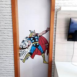 Revestimento adesivo para porta - imagem