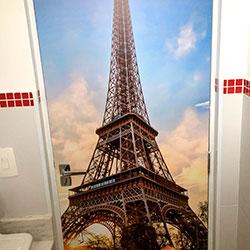 Revestimento adesivo para porta - Torre Eiffel