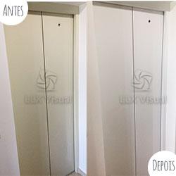 Envelopamento para porta de elevador