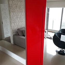 Revestimento adesivo para porta - Vermelho