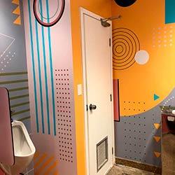 Impressão e aplicação de adesivo - Banheiro - Villa Lobos - São Paul