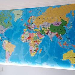 Painel Fotográfico - Mapa Mundi