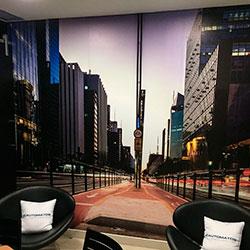 Painel Fotográfico para espaço do café