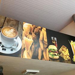 Painel Fotográfico para Decoração de Cafeteria