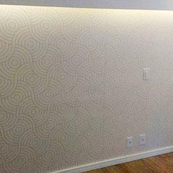 Decoração de quarto- Revestimento de parede com adesivo impressão