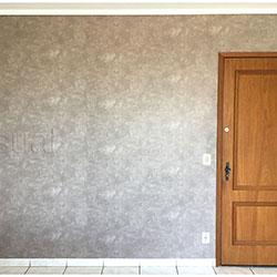 Adesivo de parede - Cimento Queimado - São Paulo - Decoração de Sala - Antes e Depois
