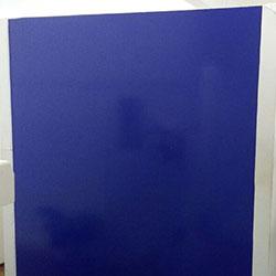 Decoração - Revestimento de parede com adesivo azul