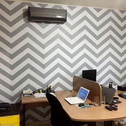 Decoração - Revestimento de parede com adesivo impresso