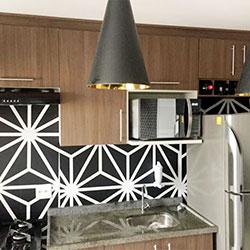 Revestimento adesivo para parede de cozinha