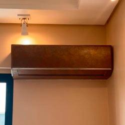 Envelopamento de ar condicionado com Aço Corten Imprimax - São Paulo - SP