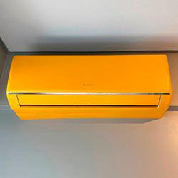 Envelopamento de ar condicionado com Amarelo Fosco Alltak - São Paulo - SP