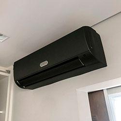 Envelopamento de ar condicionado com Jateado Charcoal - Moema - SP