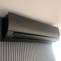 Envelopamento de ar condicionado com Jateado Charcoal - Tatuapé - SP