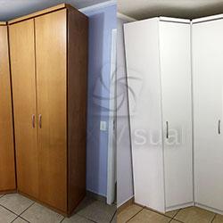 Envelopamento de armário / guarda roupa com branco fosco - antes e depois