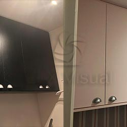 Envelopamento de armário para quarto de bebê - Rosa Ternura - Decoração - São Paulo