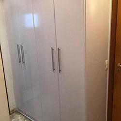Envelopamento de armário / guarda roupa com branco brilho - Guarulhos - SP