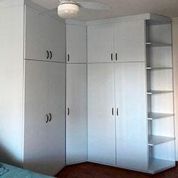 Envelopamento de armário com Branco Fosco - Indianápolis - São Paulo