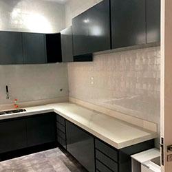 Envelopamento de armários de cozinha - Cinza Escuro Imprimax - Higienópolis - São Paulo