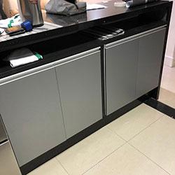 Envelopamento de armário de cozinha com Jateado Silver - Freguesia do Ó - São Paulo