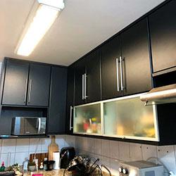Envelopamento de armários de cozinha - Preto Fosco - Chácara Inglesa - São Paulo