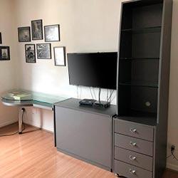 Envelopamento de armário com Satin Graphite - Consolação - São Paulo