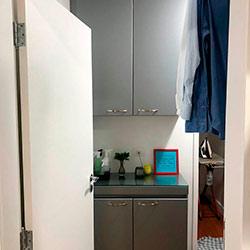Envelopamento de armários de cozinha com Jateado Silver - Indianápolis - São Paulo