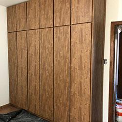Envelopamento de armário / guarda roupa com Alltak Barcelona - Mooca - SP