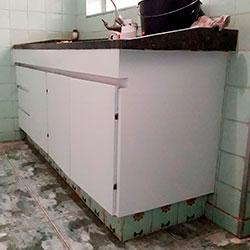 Envelopamento de armário com Branco Fosco - Perdizes - SP