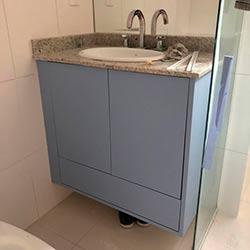 Envelopamento armário com Azul Allure - Perdizes - SP