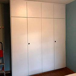Envelopamento de armários com branco fosco - São Paulo