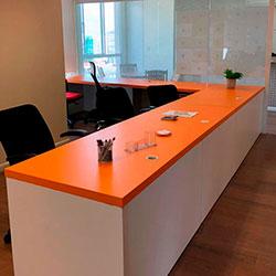Envelopamento de mesa de escritório - Pinheiros - São Paulo - São Paulo