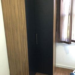 Envelopamento de armário / guarda roupa com Preto Fosco