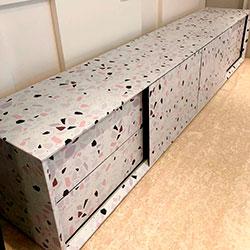 Envelopamento de rack com adesivo impresso - Anália Franco - São Paulo