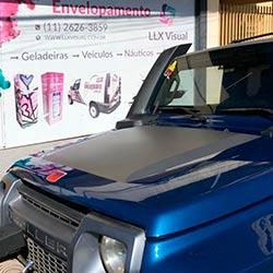 Envelopamento de capô - Jateado Gray - Jeep Troller - São Paulo