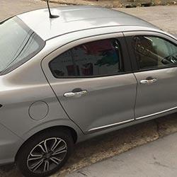 Envelopamento de Fiat Cronos com adesivo prata - Alltak