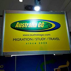 Impressão e aplicação - Logo AustraliaGo