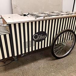 Impressão e aplicação de adesivo em carrinho de sorvete - São Paulo