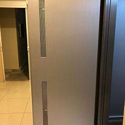 Envelopamento de Elevador com Aço Escovado - Taboão da Serra - SP