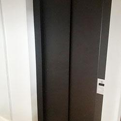 Envelopamento de Porta de Elevador com Preto Fosco em São Paulo
