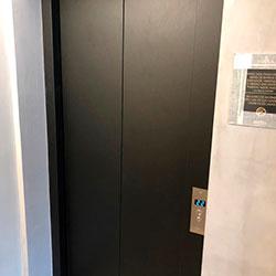 Envelopamento de Porta de Elevador com Preto Fosco - Vila Romana - Perdizes - São Paulo